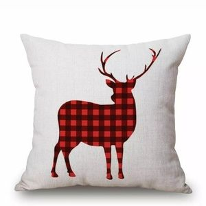 """Christmas Holiday Elk 18"""" Accent Pillow Co…"""